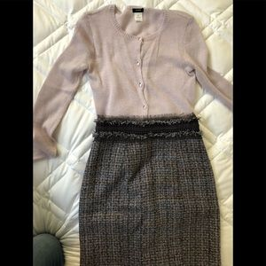 Rebecca Taylor Skirt & JCrew sweater set